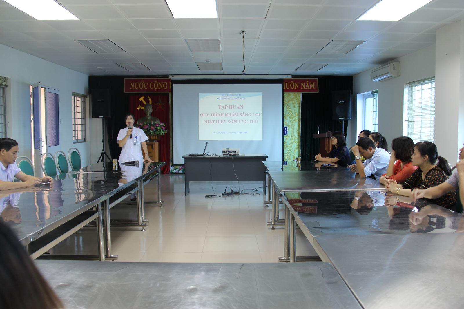 Tập huấn chương trình mục tiêu Quốc gia về Y tế và dân số tại Bệnh viện đa khoa tỉnh Bắc Ninh năm 2018